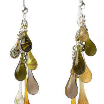 Yellow Waterfall Earrings