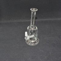 Mini Bubbler Glass Ash Catcher Inline Percolator Water Pipe Oil Rig Bong Best Quality 10.0MM Joint Bongs