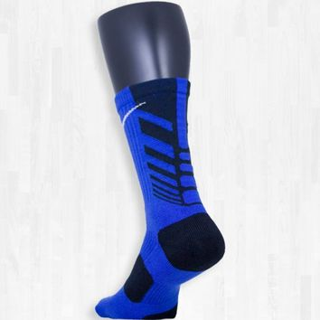 Blue and Black Nike Sequalizer Elite Socks | Rock 'Em Apparel
