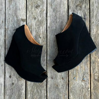 BROOKLYN WEDGE IN BLACK