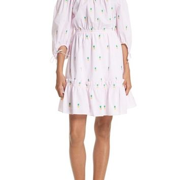 kate spade new york pineapple off the shoulder cotton dress | Nordstrom