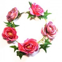 Wild Vine & Rose Flower Crown