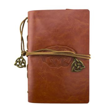 Claddagh Brown Leather Journal Planner Organizer