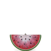 Judith Leiber Couture Crystal Watermelon Slice Minaudiere