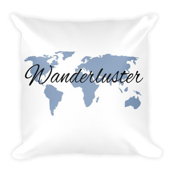 Wanderluster Globe Pillow