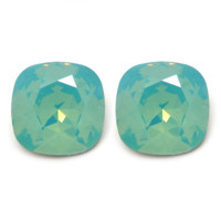 Aurora Borealis Earrings: Mint Opal Swarovski® Crystals