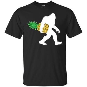 Bigfoot Carrying Pineapple Shirt, Funny Cute Sasquatch Gift