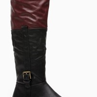 Bamboo Two Tone Calf Length Rider Boots @ Cicihot Boots Catalog:women's winter boots,leather thigh high boots,black platform knee high boots,over the knee boots,Go Go boots,cowgirl boots,gladiator boots,womens dress boots,skirt boots.