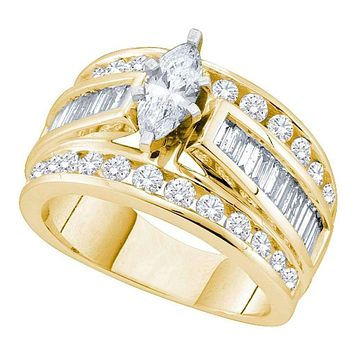 14k Yellow Gold Women's Marquise Diamond Certified Bridal Wedding Engagement Ring 1.00 Cttw - FREE Shipping (US/CAN)