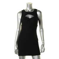 Material Girl Womens Juniors Sleeveless Peek-A-Boo Clubwear Dress