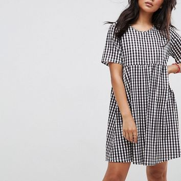 ASOS Ultimate Mini Smock Dress in Gingham at asos.com