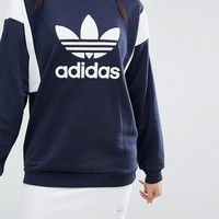 adidas Originals Tokyo Colour Block Trefoil Sweatshirt at asos.com