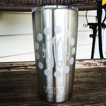 Yeti Rambler with Monogram - 20oz - Stainless Steel - Personalized - Customized - Christmas Gift - Birthday Gift - Yeti Cup