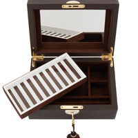 Henri Bendel Medium Leather Jewelry Box