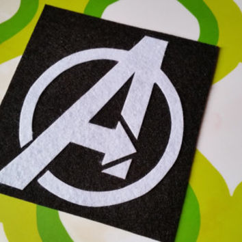 Avengers Inspired Adhesive Patch / Magnet - Superhero Sticky Felt Patch / Sticker