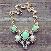 Pree Brulee - Green Opal Necklace