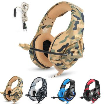 K1 PS4 Camouflage Headset Gaming Headphones Over-ear Bass Gamer Earphones with MIC for PC Phone Xbox one Tablet casque