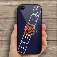 Chicago Bears Logo For iPhone 4/4S case Hard Cover Plastic