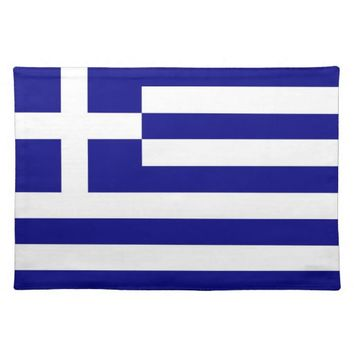 Greek Flag on MoJo Placemat
