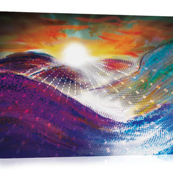 Dawn of a New Age - Canvas Print, Abstract Art, Visionary Art, Psychedelic Art Print, Digital Painting.
