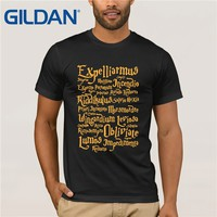 GILDAN Harry Cosplay T shirt Homme Movie Fans Potter Summer Brand New Cotton O-neck Short Sleeve Print Spell T-shirt Men 2XL