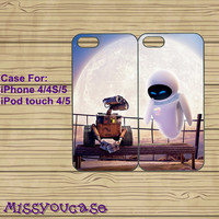 iphone 5 case,cute iphone 5 case,iphone 5 cases,iphone 4 case,iphone 4s case,cute iphone 4 case--Wall-E And Eve,best friends,in plastic.