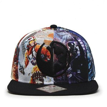 Star Wars Episode 7 Goods vs Evil Logo Sublimated Flat Brim Snapback Baseball Cap