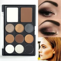 Warm Brown Nude Smoky Eyeshadow