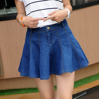 Korean Denim Summer Irregular Dress Skirt [11405206799]