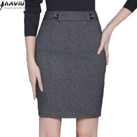 Autumn fashion slim black grey skirt women's all-match slim formal female OL office plus size Mini short skirt