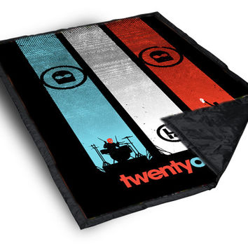 Twenty One Pilots Flag custom Blanket