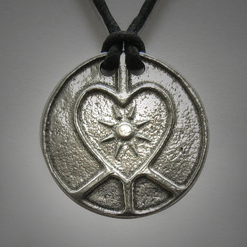 Peace Love and Light pendant necklace