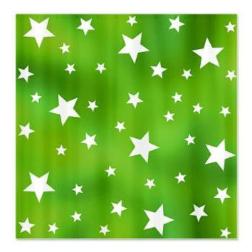 Lime Green Star Pattern Shower Curtain> Green Patterned Gifts> Hippy Gift Shop Funky Hippie Gifts