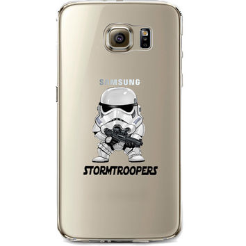 Star Wars Storm Trooper Jelly Clear Case for Samsung Galaxy S7 EDGE