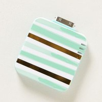 Arctic Stripe iPhone 4 Backup Battery by Anthropologie Mint One Size Jewelry