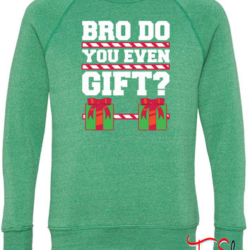 Bro Do You Even Gift5 fleece crewneck sweatshirt