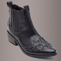Matisse x Amuse Society BACKSTAGE Black Leather Studded Western Booties