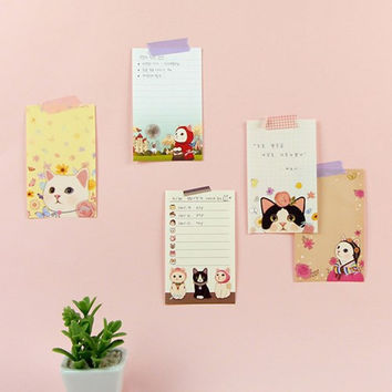 Choo Choo cat memo notepad