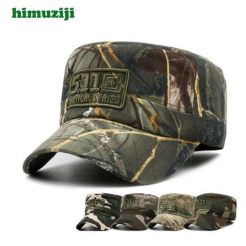Trendy Winter Jacket Camouflage Hats Men Women Cotton Camo Baseball Cap Outdoor Climbing Hunting Camo Hats Army Camo Snapback Flat Top Cap AT_92_12