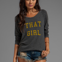 Local Celebrity That Girl Sweater in Black Stones