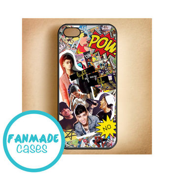 Zayn Malik comic collage iPhone 4/4s 5/5s/5c & iPod 4/5 Rubber Case