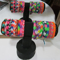 Fishtail Rainbow Loom Bracelets - Children Birthday Party Jewelry Party Favors Charm Gift Bands