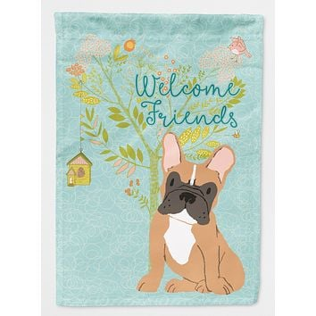 Welcome Friends Fawn French Bulldog Flag Garden Size BB7633GF