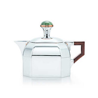 Tiffany & Co. - Arts and Crafts creamer in sterling silver with jade.