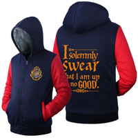 Harry Potter Costume Cosplay Jacket Sweatshirts Thicken Hoodie Zipper Coat