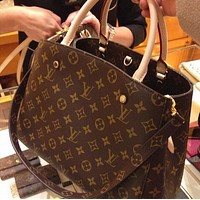 LV Louis Vuitton Trending Women Print Leather Tote Crossbody Satchel Shoulder Bag Handbag I