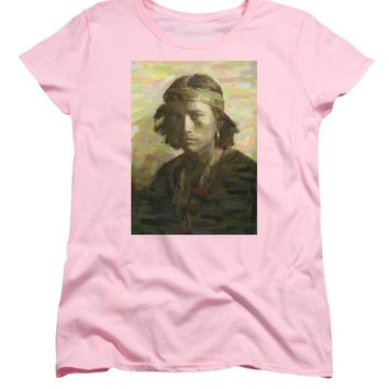 Portrait Of A Navajo Youth 1 - Women's T-Shirt (Standard Fit)