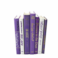 PRETTY PURPLE  Wedding Decor, Decorative Books, Book Collection, Set Library Home Dorm Decor,  Interior Design, white