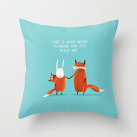 Acceptance Throw Pillow by Dale Keys | Society6