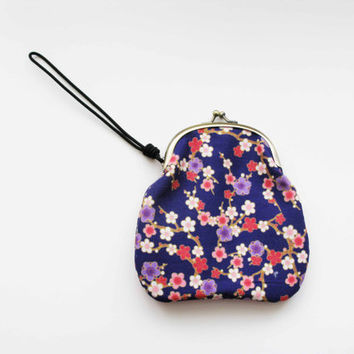 Cherry Blossom Purple Wrist Clutch by AllBeta on Etsy